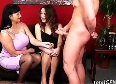 Milf Teaches Her About Sucking Dick