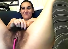 Hot milf lived show her sexy hairy pussy