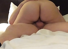 GF rides me for a creampie ending