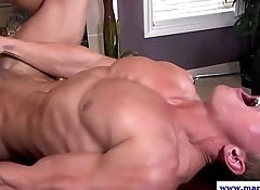 Sixpack stud wanks cum while fucked by tutor
