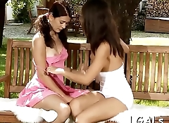 Two beauties have lesbo enjoyment