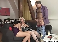 His GF shares his dad'_s cock with his mom