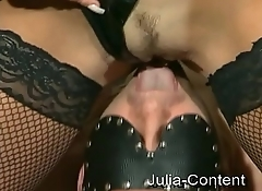Fetish-Fuck by a couple in livingroom