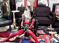 Multilayer LATEX &amp_ KIGURUMI Breath Play