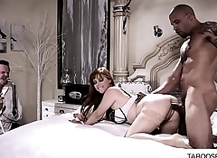 Red head milf fuck in front of husband