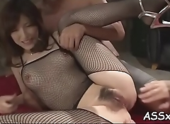 Raucous anal for breasty oriental chick