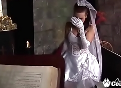 Bride Tanya Cox Gets A Face Full Of Cum From The Priest On Her Wedding Day
