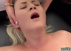 Lover assists with hymen physical and fucking of virgin cutie