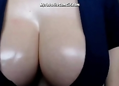 Busty Babe Ass Spreading and Fingering Wet Pussy (Close-Up)