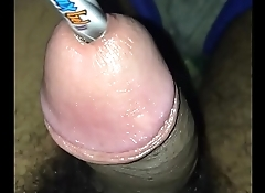 18 year old boy trying to insert pen inside his penis