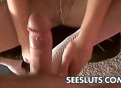 PANTYHOSE Slut Julie Robbins Fucked Hard