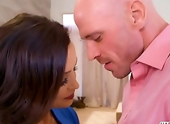 Busty Milf Lisa Ann rides on Johnny Sins