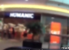 Ravishing czech chick was seduced in the shopping centre and banged in pov