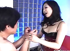 Beautiful asian pegging his ass - Scene 2