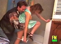 Filth pig hitting on a young girl visiting a house
