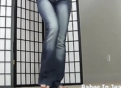 Jerk your cock to me in my skin tight jeans
