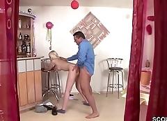 Hidden Cam filmed German Step-dad fuck Daughter when alone
