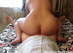 BBW Homemade fuck and suck with anal creampie