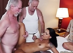 Old german guy Staycation with a Latin Hottie