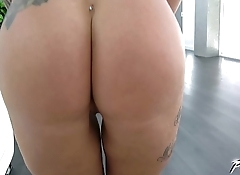 Tattooed Blonde'_s Huge Boobs Bounce All Over When Pussy Stuffed