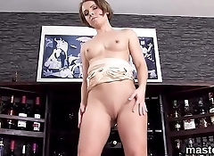 Frisky czech nympho gapes her wet snatch to the unusual