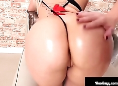 Hot Nympho Nina Kayy Slapped On Her Bubble Butt By Sara Jay!