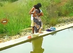 Hot mallu aunty boobs pressing outdoor