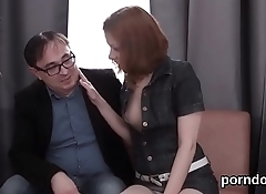 Lovesome schoolgirl was tempted and poked by her elderly tutor