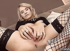 Frisky czech cutie stretches her tight vagina to the strange