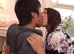 Breasty asian'_s electrifying oral sex