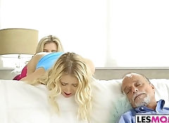 Les mom Cory Chase plays with Sierra Nicole