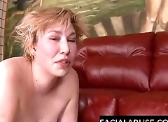 Face fucked slut gagging &amp_ sobbing