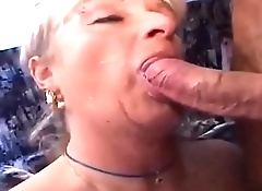 Mature Cougar on action