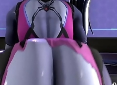 Fat ass Widowmaker rides Sombras futa cock